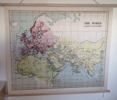Large professionally framed old historical world map jigsaw world map gumiabroncs
