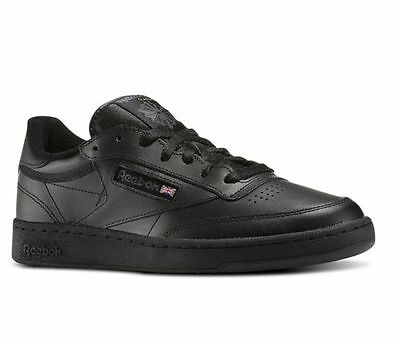 Reebok Club C 85 AR0454 Black/Charcoal Leather Casual Men Shoes Fast Shipping