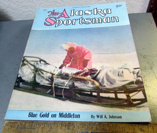 vintage April 1950 Alaska Sportsman magazine, great cover art, good shape