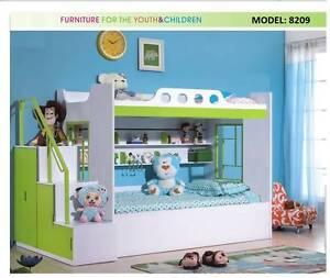 BRAND NEW KIDS CHILDRENS BUNK BEDS GREEN PURPLE BLUE ORANGE WHITE Casula Liverpool Area Preview