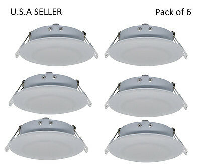Facon 6pcs RV LED 4.5inch 12V Recessed Interior Ceiling Down Lighting Fixture
