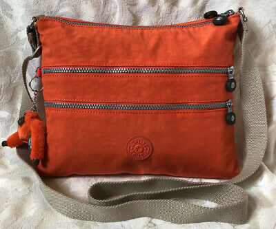 KIPLING Orange Nylon Crossbody Handbag EUC
