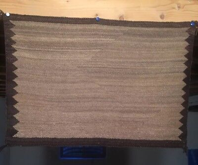 1915 NAVAJO Single Saddle BLANKET Rug 35.5 x24.5 Textile Weaving Native American