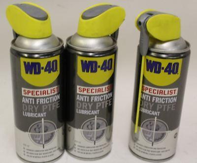 3x NEW WD-40 Specialist Dry PTFE Anti Friction Aerosol Lubricant Maintenance