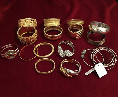 Job Lot 16 X Indian Style & Dolphin Bracelets Womens Gold Silver Tone Womens for sale  Shipping to South Africa