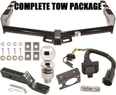 - COMPLETE TRAILER HITCH PACKAGE W/ 4-WAY & 7-WAY WIRING & BRACKET ~ TOW RECEIVER