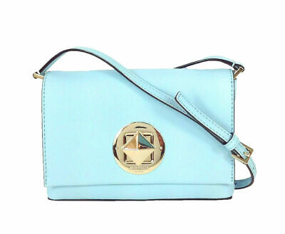 Kate Spade Sally Newbury Lane Mini Tiffany Blue Square Latch Crossbody