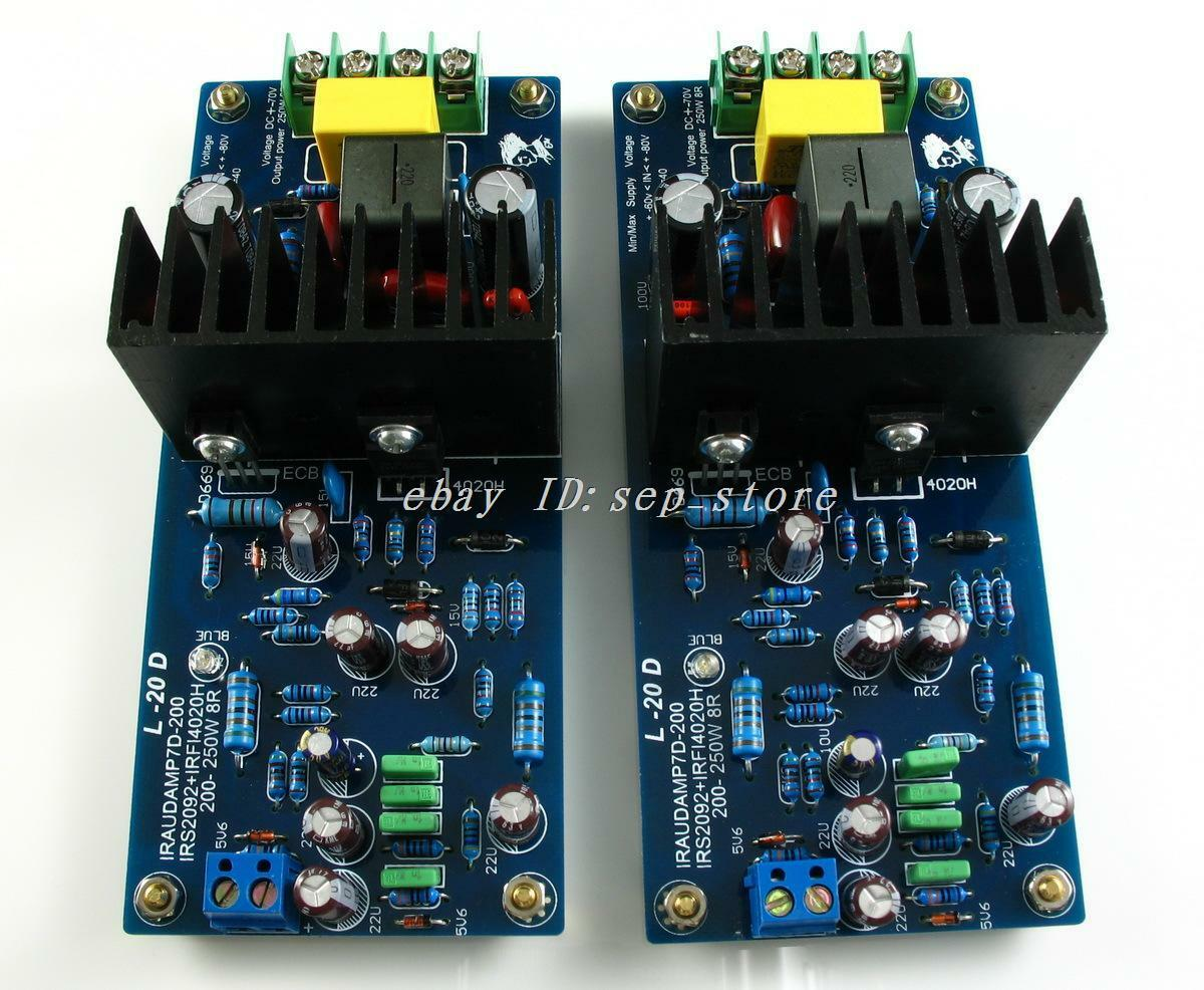assembled ljm l20d irs2092 top class d amplifier board 200 250w 2 cl183 ebay. Black Bedroom Furniture Sets. Home Design Ideas