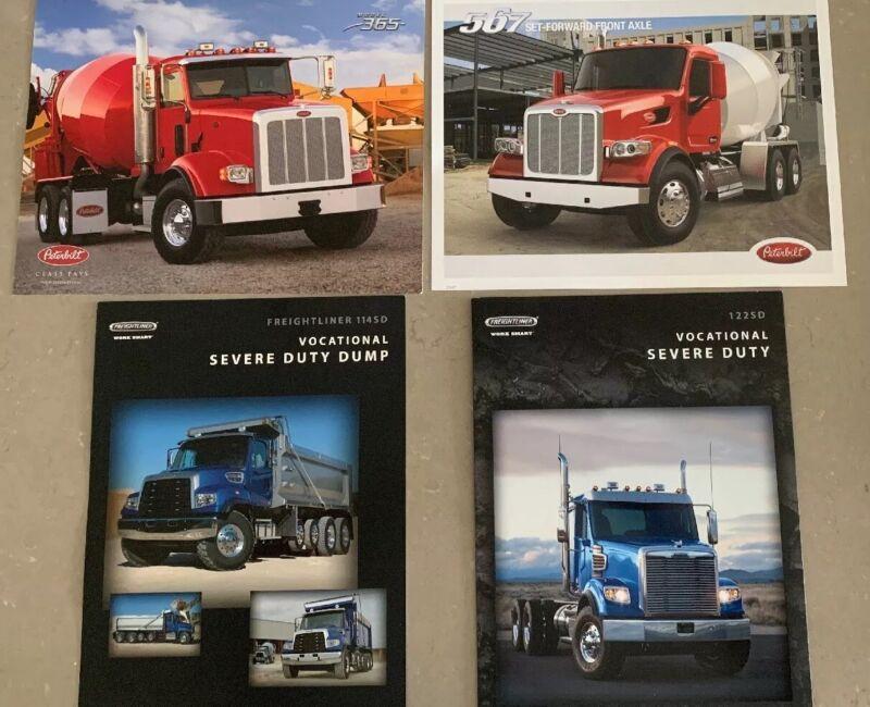 Lot/4 Peterbilt And Freightliner Truck  Brochures