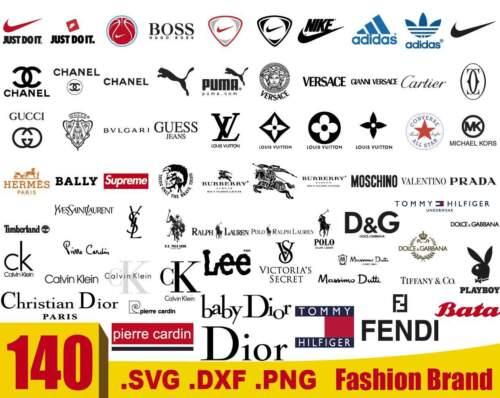 Fashion Brand SVG, Logo Fashion brand svg, Designer Brand logos SVG, PNG, DXF