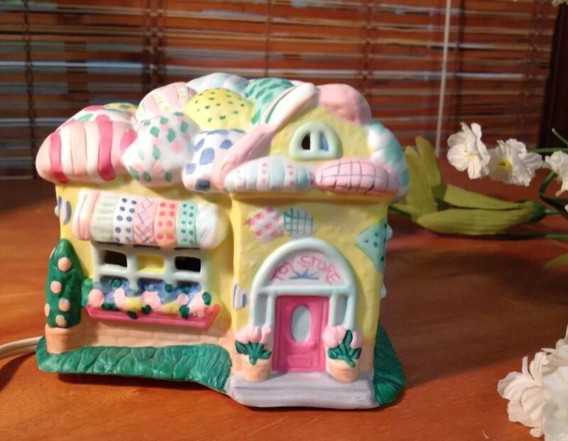 Vintage Ceramic Easter Bunny Toy Store # 491 Cottage Collection Decoration