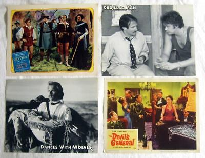 MOVIE LOBBY CARDS, ADS ~ Large Lot with Stars