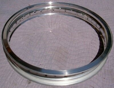 WM3 2.15 X 18 -36 hole Akront/Italian style flanged alloy vintage motorcycle (Vintage Motorcycle Wheels)