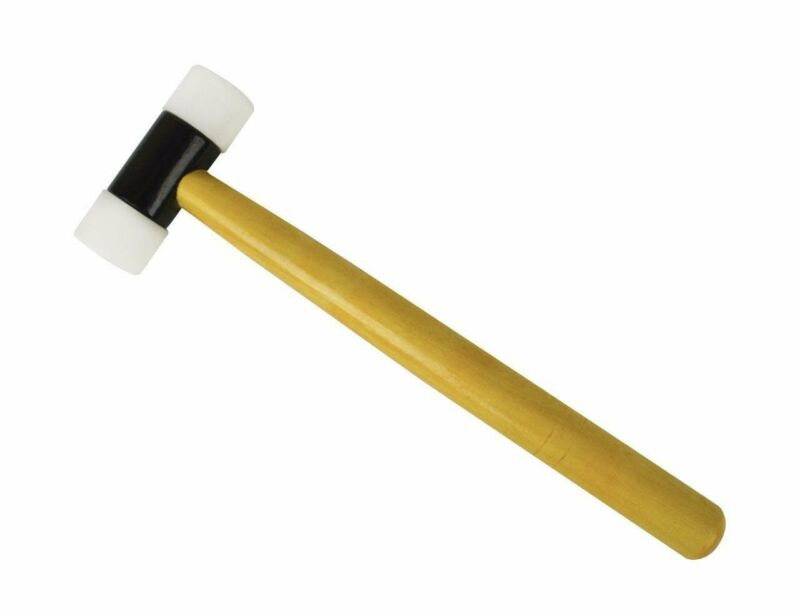 """Nylon Hammer 1-1/4"""" Face w/ Wooden Handle Jewelry Making Metal Forming Mallet"""