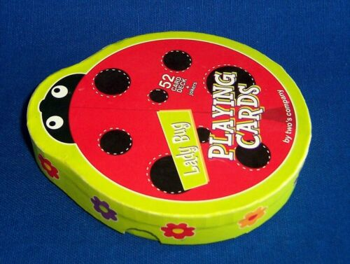 Purchased, Not Used Lady Bug Shaped Playing Card Set by Two