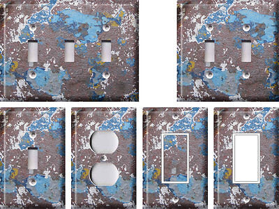 Blue Swirls Rust and Shades - Light Switch Covers Home Decor (Sunglasses Outlet Canada)