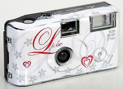10x Hochzeitskamera Einwegkamera LIEBE LOVE ! Hochzeit 27 Aufnahmen Blitz
