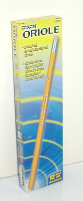 1 DOZEN OF DIXON ORIOLE NO. NUMBER 2 HB WOOD PENCILS #12872 NEW IN PACKAGE
