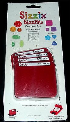 (Button Sizzix Sizzlits 4 Die Buttons Set 38-9690 NEW!)