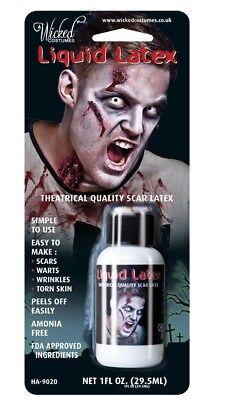 EFFECTS ZOMBIE FLESH SCARS SKIN ADHESIVE HALLOWEEN MAKE-UP (Special Effect Halloween-make-up)