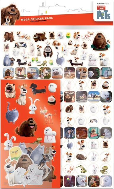 Secret Life of Pets Mega Sticker Pack Over 150 Stickers | Party Favours | Crafts