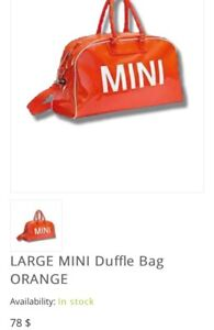 LARGE MINI Duffle Bag ORANGE