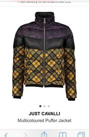 Original just Cavalli puffer coat/jacket designed by roberto Cavalli