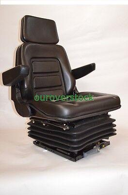 New Suspension Seat With Armrest Fits Excavator Forklift Dozer Loader Tractor