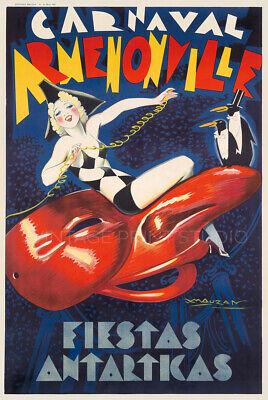Argentina Carnaval Armenonville Vintage Music Dance Giclee Canvas Print 20X30