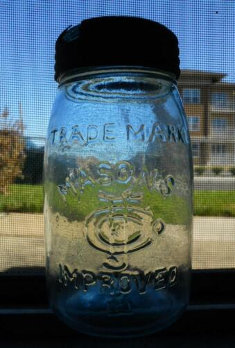 Nice Midget Glass Top Fruit Canning Mason Jar Mason