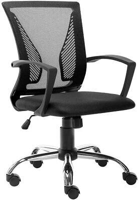 Ergonomic Office Desk Chair Mesh Swivel Computer Task Home Chair Mid-back Black
