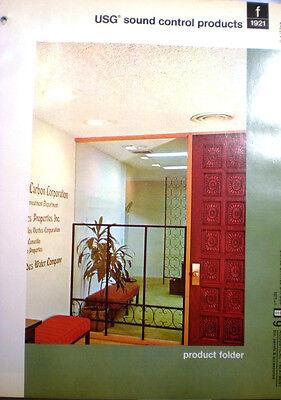 United States Gypsum Usg Sound Control Ceiling Catalog Asbestos Board 1970S