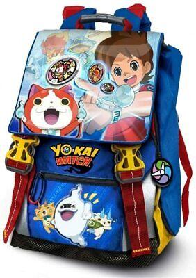 Zaino Scuola Estesibile Yo Kai Watch Con Gadget Marsupio in Omaggio per...