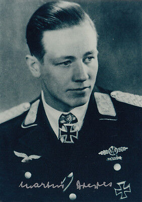 Luftwaffe Martin Drewes WWII Ace 49 Vic, Night Fighter, Knights Cross SIGNED 4x6