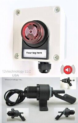 Clamp On Float Switch Sump Pump Alarm Led Waterproof 12v Well Septic
