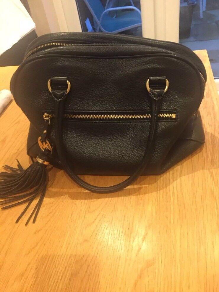Genuine black leather Michael kors handbag bag