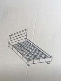 Brand New Boxed Ellis Faux Leather Double Bed Frame - Black