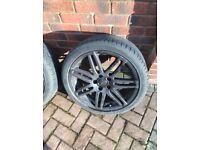 4 x 18' inch Black Audi alloys wheels. Please Read The Description