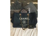 Chanel deauville large tote bag