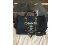 Stunning Chanel large deauville tote
