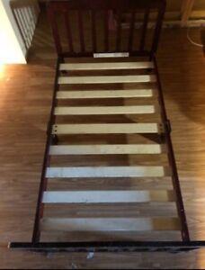 Wooden frame toddler bed free delivery
