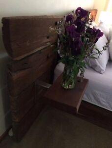 Custom made Redgum sleeper bed