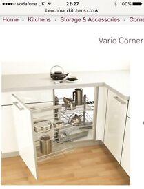 Kitchen cupboard magic corner
