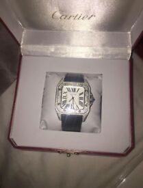 Cartier Santos 100 XL Diamond watch Box and papers