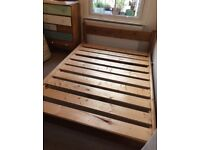 Solid Wood Bed Frame - Double