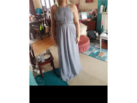 Bridesmaid or prom dress grey
