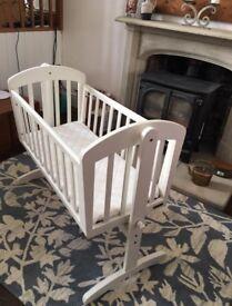 Crib, Moses Basket & Bouncer