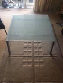 Lovely Glass Coffee Table Good Condition Can Deliver Locally for £5