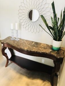 Solid marble buffet table / display table
