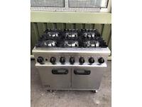 Lincat Gas 6 burner cooker commercial Catering Cafe restaurant